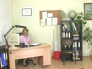 older office boss forces him fuck her hard