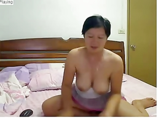 older oriental masturbating while spouse is away