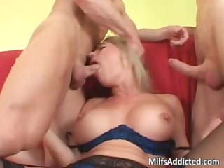 lusty blond mother i with big bumpers sucks