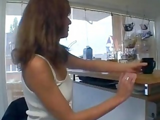 lascivious german mommy in her kitchen