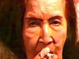 pervert granny smokin ad masturbating.
