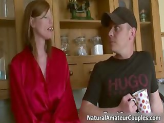 sexually excited milf talking with her boyfriend