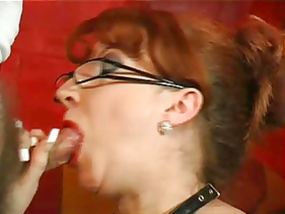 redhead mature show her oral sex skills