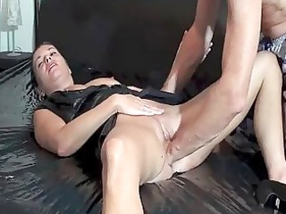 fisting the wifes loose cum-hole untill she is