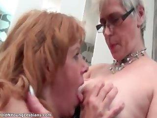 old breasty aged lesbo engulfing mounds