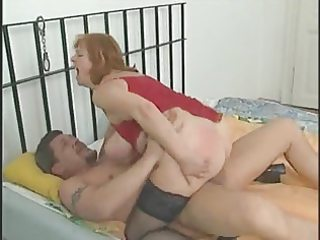 breasty obese aged in nylons sucks and bonks