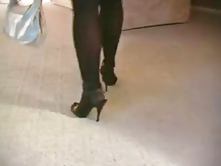 hawt blond d like to fuck smoking in nylons and