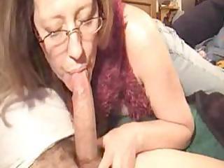 sexy mature gives a blow job