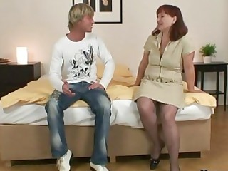 granny in nylons acquires drilled