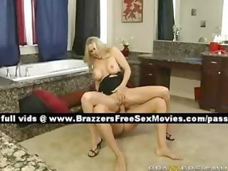 worthwhile blonde wife on the bath floor