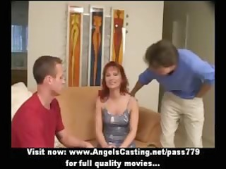 redhead d like to fuck as bride does fellatio for
