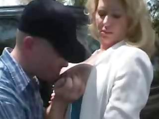 large titted older lady banged outdoor
