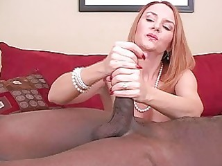 older dilettante wife interracial cuckold handjobs