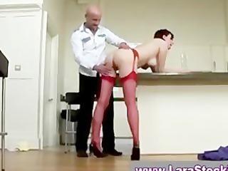 older stocking doxy fucking and engulfing