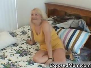 naughty mama shows her juggs and sucks ramrod