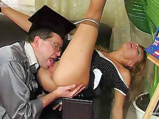 mature professor cums all over his student