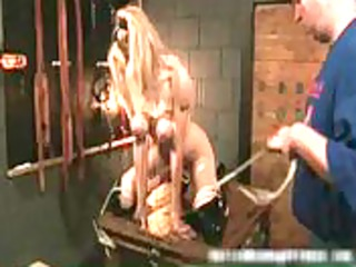 Hot blond MILF horny babe gets bondage