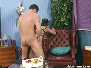 lewd aged woman rides an hard cock part5