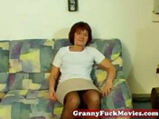 dilettante granny showing how to masturbate