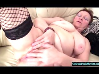 obscene granny fingering her hairy old cunt