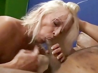 granny shows off her expert dong engulfing skills