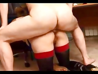 curvy dilettante wife acquires booty screwed on