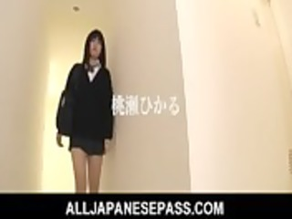 hikaru momose oriental schoolgirl has a hairless