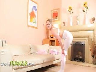 hot mama in white hose strip