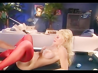 breasty blond milf fucking in red haunch high