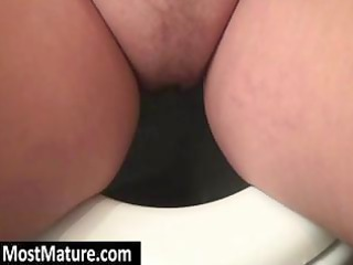 overweight golden-haired d like to fuck goes pee