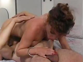 sexy threesome with milfs and theres cock