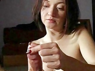 milf wife gives awesome handjobs