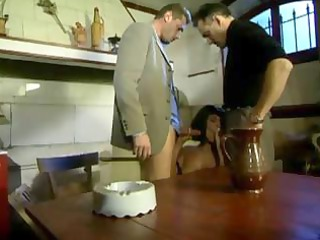 french mommy drilled in the kitchen