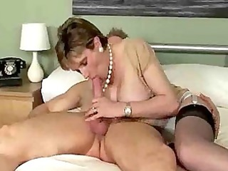 breasty aged gal loves giving a sloppy bedroom