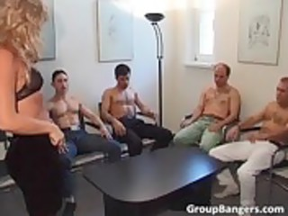 dilettante gang gangbang party with threesome aged
