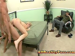 lustful wife copulates in front of hubby