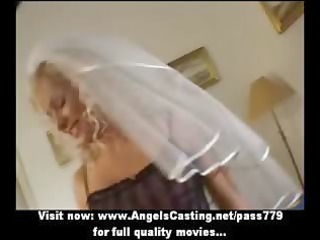 sexy blonde d like to fuck as bride does oral-job