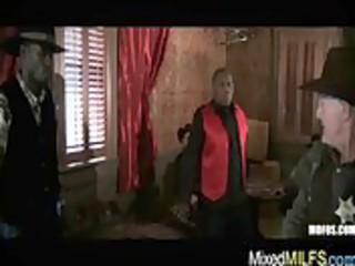black wang fucking horny hot breasty milf video-46