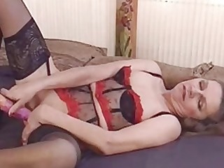aged amateur wife toys her butt and receive anal