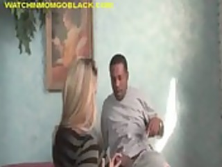interracial sex ride for golden-haired mommy