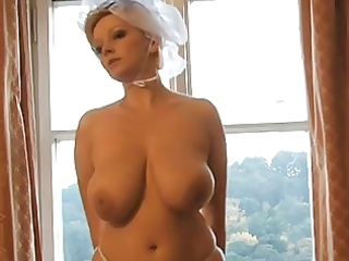 hawt blond d like to fuck bride photoshoot