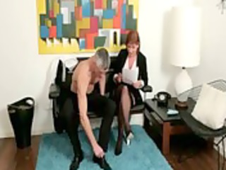 femdom mature makes chap to acquire in nature