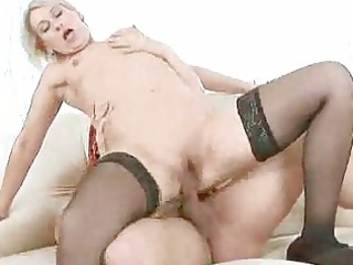 old milf drilled by a young dude