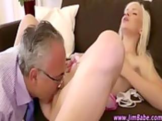 older lad receives oral stimulation and copulates