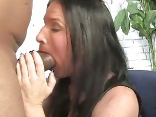 brunette hair mother gets boned by a big darksome
