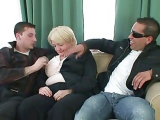 two dudes group sex completely drunk granny