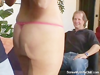 swinger wife acquires screwed, hubby approves!
