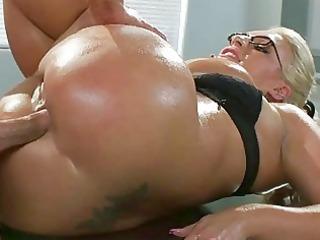 heavy titties milf sadie swede oily wazoo pounded
