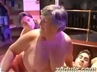 bulky grannies having nasty sex in a undress club