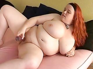 bust redhead milf fatty toys her plump cutn